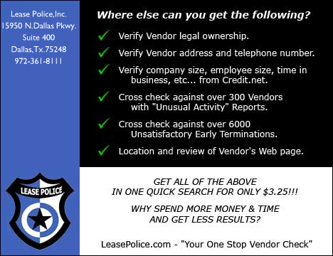 "LeasePolice.com - ""Your One Stop Vendor Check"""